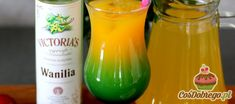 """Przepis na Drink """"Szkoła uwodzenia"""" (wersja z alkoholem) Blue Curacao, Hurricane Glass, Victoria, Drinks, Tableware, Drinking, Beverages, Dinnerware, Tablewares"""