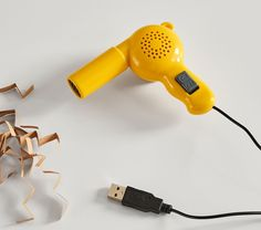 For those who love all things mini, the World's Smallest Hair Dryer delivers a cool blast of air, making it safe for play time. Simply plug it in via USB cable and start styling! Air Dry Hair, Wet Hair, Small Hair Dryer, Instagram Feed Tips, Small Vacuum, Deep Conditioning Treatment, Wooden Train, Shower Cap, Small World