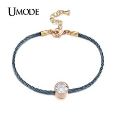 d15e4aedba62 UMODE Brand New Trend Bracelet For Ladies Gold Color Rope Chain Bracelets  Women Fashion Jewelry Pulseira Masculina Gift AUB0088. Pulseras De  JoyeríaPulseras ...
