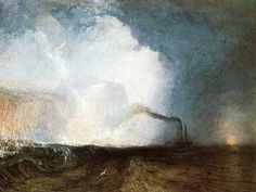 Turner's clear light from out of the storm. Give me Turner over Whistler any day. I love this mix of darker and lighter.