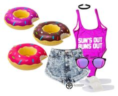 """SUN'S OUT BUN'S OUT"" by alexannaloro on Polyvore featuring Big Mouth, RetroSuperFuture, Miss Selfridge, Puma and ALYANNACLOTHING"
