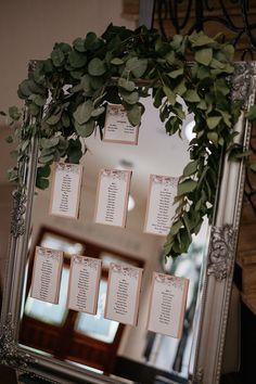 Plan stołów na lustrze, lustro, wedding decoration, mirror