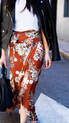 And the most popular Zara item on Pinterest is....this floral print skirt! We can see why