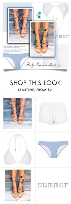 """""""Pinky Promise Accs"""" by amra-mak ❤ liked on Polyvore featuring Topshop, Solid & Striped and PinkyPromiseAccs"""
