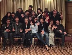 Loving these goofballs 1 and all tho' @Mark_Sheppard was not feelin' the #JazzHands quite like the rest of us. #SPN