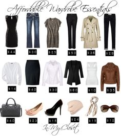 """""""Affordable Wardrobe Essentials"""" by in-my-closet ❤ liked on Polyvore"""