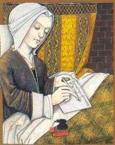 La gran poetessa medieval francesa Christine de Pisan, Cristina de Pisa o Christine de Pizan (Venècia, 1364-1430 al monestir de Poissy).