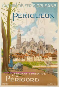 Néon Félix 1924 - Chemin de fer d'Orléans- Périgueux  - Chef-lieu de la Dordogne depuis 1791