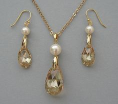 Genuine Swarovski Pearls & Swarovski Crystals in by Designsbyknar, $49.00