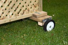 Privacy Screen - Wheel Assemby Detail | Weekend carpentry pr… | Flickr