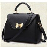 Casual PU Purity Bowknot Elegant Handbag Retro Fashin Bag for Women DTH-325539