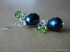 Sea  Fruits Freshwater Pearl Earrings by harborsidetreasures, $24.00