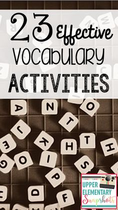 Effective Vocabulary Activities Find 23 ready to use, effective vocabulary activities your students will love, by The Teacher Next Door!Find 23 ready to use, effective vocabulary activities your students will love, by The Teacher Next Door! Vocabulary Strategies, Vocabulary Instruction, Science Vocabulary, Academic Vocabulary, Vocabulary Building, Vocabulary Words, Vocabulary Ideas, Vocabulary Practice, Spanish Vocabulary