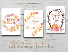 Fall Decor FREE Prin
