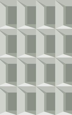 See your space from a new perspective with our modern architecture-inspired design, Giorgio. Whether your wall is small, tall, large, or wide, this geometric pattern will transform your surface with its 3D effect, and will repeat around as many walls as you want, too. The wallpaper is painted in a relaxed palette of sage green tones, and creates an illusion of endless windows and shadows. 3d Cube Wallpaper, World Map Wallpaper, Forest Wallpaper, Green Wallpaper, Kids Wallpaper, Pattern Wallpaper, Geometric Wallpaper Design, Design Repeats, Green Accents
