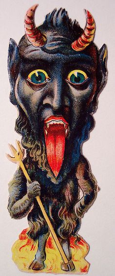 Oh my Krampus. Devils: http://www.flickr.com/photos/vintagehalloweencollector/sets/72157600279186704/with/3096166292/