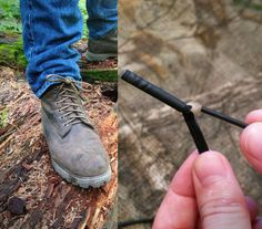The Flint Laces are a pair of shoe laces that you can use in case of an emergency to start a fire with if you are otherwise incapable of starting one.