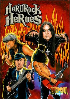 Rock & Roll Comics: Hard Rock Heroes GRAPHIC NOVEL. What goes together better than comics and rock music? Rock 'N' Roll Comics: Hard Rock Heroes goes WAY beyond behind the music, to tell the real life, behind-the-scenes stories of rock's most heavy hitters. Covering bands like Guns N' Roses, Metallica, AC/DC, Black Sabbath, Ozzy Osbourne, Van Halen, Motley Crue, Poison, Megadeth, Pantera, Anthrax, Motorhead, & Sammy Hagar. On Nook, iTunes & Kindle as well as where other digital comics are…