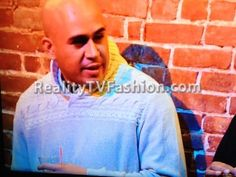 Cisco Rosado's Cream Shawl Collar Sweater #LHHNY