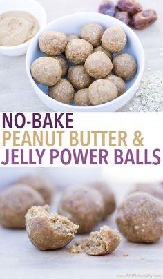 No-Bake Peanut Butter & Jelly Power Balls, gluten free & easy!