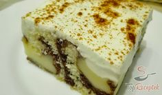 Cake with pudding, sour cream and cinnamon , Pudding Cake, Sweet Desserts, Cookie Bars, Sour Cream, Deserts, Brunch, Food And Drink, Sweets, Baking