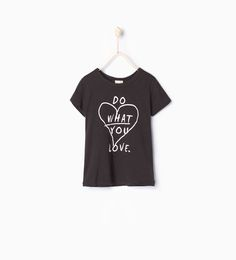 Text T - shirt - View all - T - shirts - Girl - COLLECTION AW15 | ZARA Turkey
