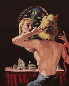 Vintage Comics, Vintage Posters, Vintage Art, Arte Horror, Horror Art, Arte Pulp Fiction, Arte Peculiar, Serpieri, Arte Obscura