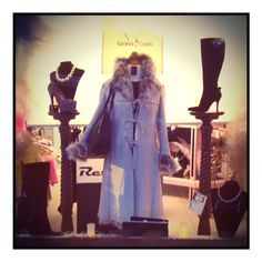 Consignment, vintage, pre worn window displays don't have to look like charity shops!