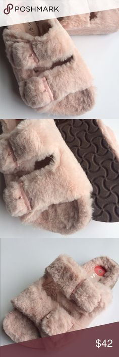 Steve Madden size 6 pink fluffy sandals  NWT Pretty, soft & fluffy Madden Girl sandals  NWT so adorable  & loved by anyone who sees them ! steve madden Shoes Sandals