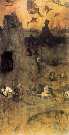 Hieronymus Bosch, The Fall of the Rebel Angels detail