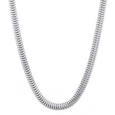 4mm Real 925 Sterling Silver Snake Link Chain Necklace, 50 cm  Discount from…
