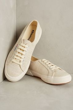 superga metallic canvas sneakers / anthropologie