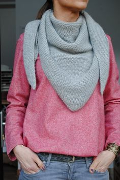 Tuto tricoté au point mousse : Trendy Châle par Une souris dans mon dressing