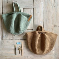 Crochet Bowl, Diy Crochet, Crochet Bag Tutorials, Crochet Projects, Sacs Design, Crochet Market Bag, Boho Bags, Crochet Handbags, Fabric Bags