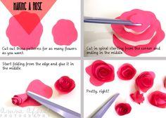 DIY - Paper Roses Twigs