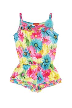 Kate Mack Dipped In Daisies Daisy Print Knit Romper