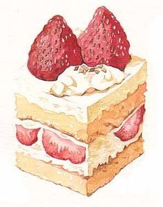 Artist Who Draws Cake : Illustration on Pinterest Food Illustrations, Food Art ...