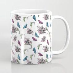 Tulips and Butterflies Coffee Mug Tech Accessories, Tulips, Butterflies, Coffee Mugs, Wall Art, Tableware, Unique, Design, Dinnerware