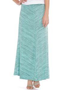 Chevron Spacedye Maxi Skirt-Plus