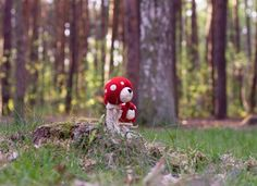 #mushroombear #miszek #bear  #feltedanimals #bear #フェルト #かわいい  #熊 #羊毛フェルト #テディベア #needlefelting #felt #felting #fiber #fiberart #fiberartist #amanita #flyamanita Bears, Wool, Christmas Ornaments, Holiday Decor, Instagram Posts, Home Decor, Decoration Home, Room Decor, Christmas Jewelry