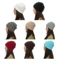 Women men Unisex Winter Chunky Soft Stretchy Knit Slouchy Beanie Hat Cap  Skiing  fashion   cb747f4129df