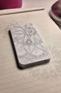 Customised phone case using Sharpies.