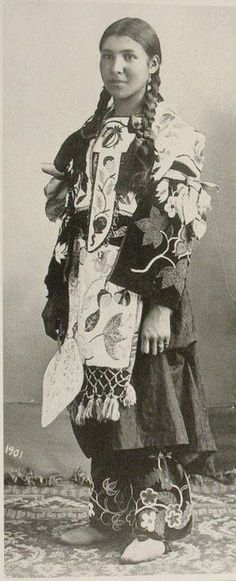 An Ojibwe woman. 1901