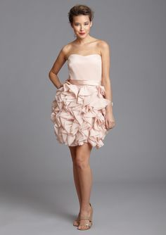 NOTTE BY MARCHESA Strapless Ruffle Skirt Dress