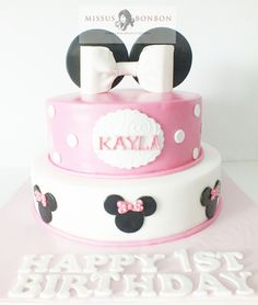 Kayla just turned ONE! After weeks of planning, we came up with the perfect cake for Kayla's Minnie Mouse themed birthday party