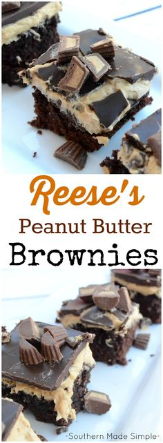 These aren't just ANY ol' brownies, y'all. These are DANG delicious, and a perfect twist of chocolate and peanut butter topped with mini peanut butter cups that will make you never want to eat regular brownies ever again!