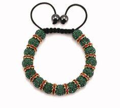 Black Shamballa Black Cord 10 mm Black Beads Adjustable Bracelet of 19 cm/7.5 inch Ibrhr5rE