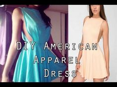 ▶ DIY American Apparel Ponte Skater Dress (Sewing) - YouTube