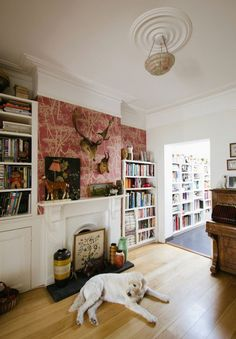 Magazines and books.  Jane and Rob's Inspiring London Townhouse House Tour | Apartment Therapy