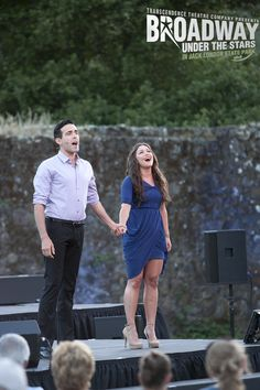 """Julie Craig and Victor Mazzone sing """"Tonight"""" from """"West Side Story"""" in Transcendence Theatre Company's Broadway Under The Stars in Jack London State Park - Sonoma, Napa, Wine Country http://www.transcendencetheatre.org/ Photo By Ray Mabry"""